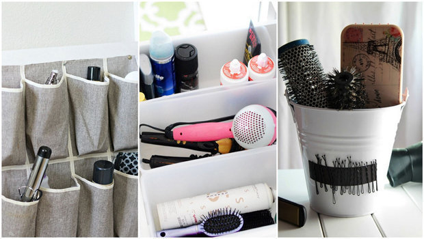 23 Creative Ideas To Help You Organize Your Hairstyling Tools