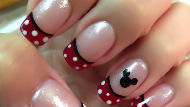 How To Decorate Your Nails With Mickey Mouse Nail Art