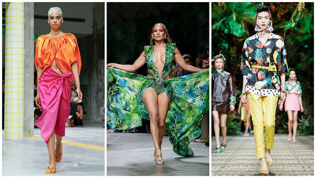 Summer Trends 2020.Tropical Prints And Bright Color Pairings Took Over Milan