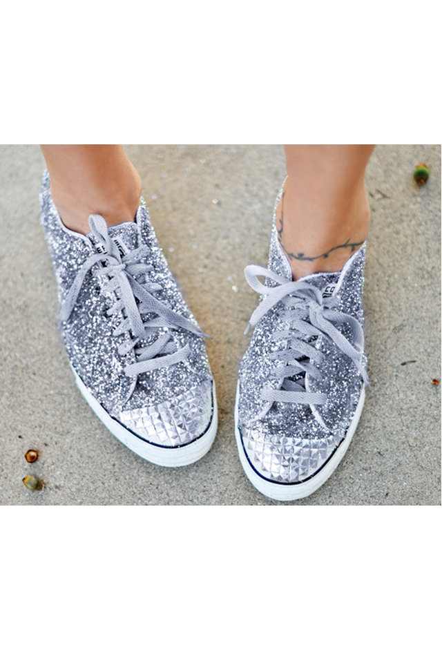 diy glittery converse shoes