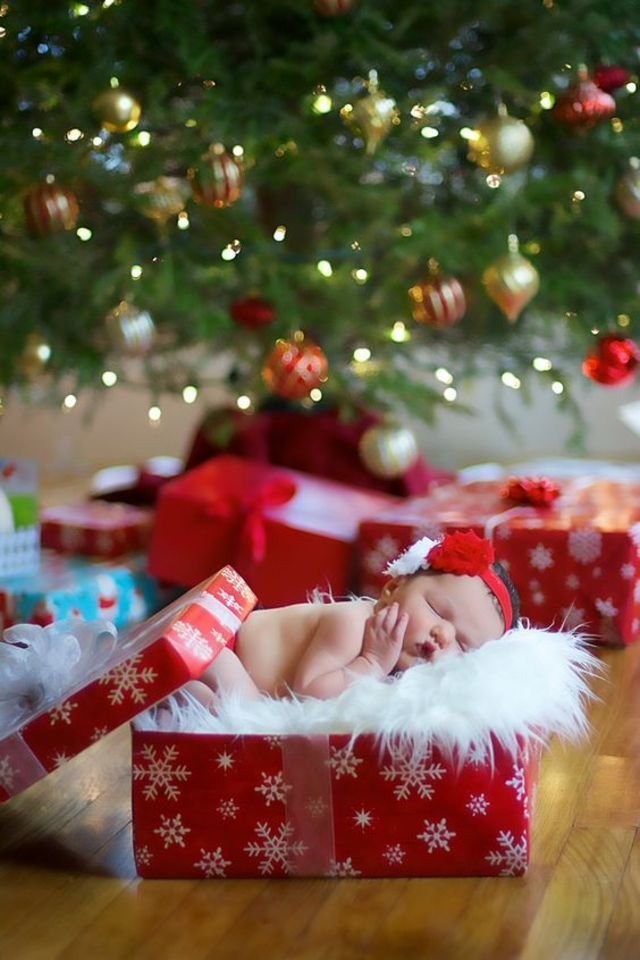 Baby Gift Ideas For Christmas : Photos of cute babies dressed up for the holiday season
