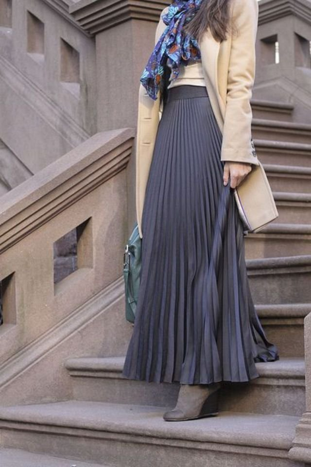 Hijab Fashion How to Wear Skirts for Hijab Winter Workwear