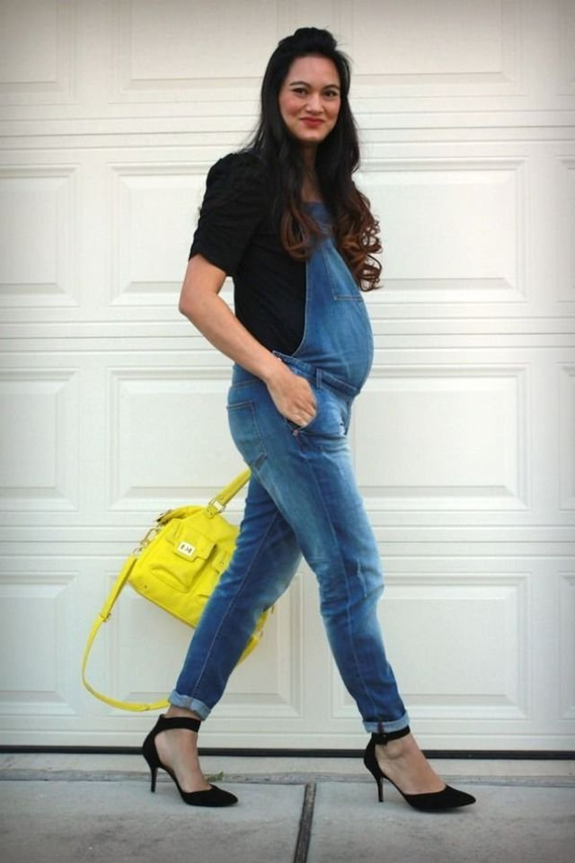 How to Wear Jeans Overall Maternity