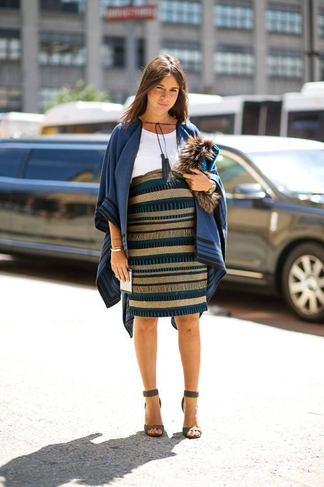 Maternity Street Style At New York Fashion Week Spring 2015