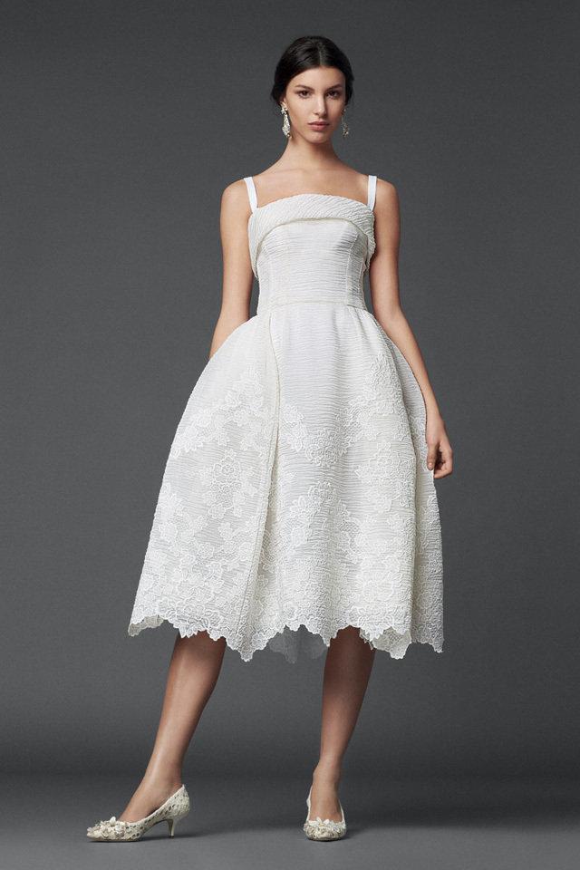 Short white dresses for your bridal shower for Dolce and gabbana wedding dresses