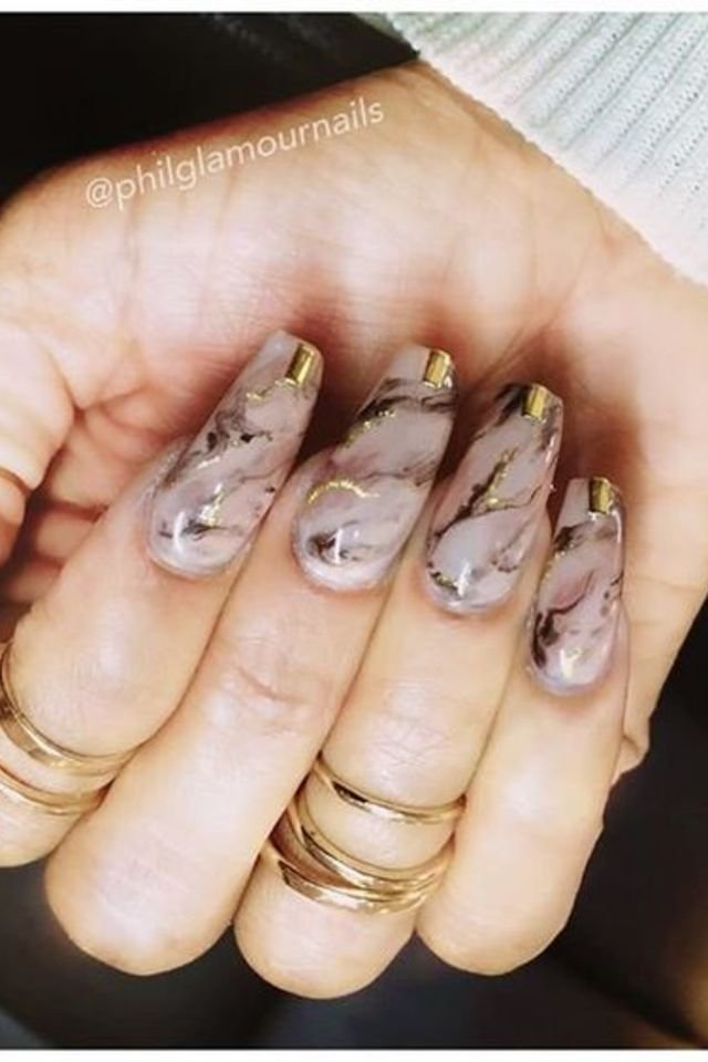 Marble nail designs best nails 2018 marble nail art tutorial prinsesfo Gallery