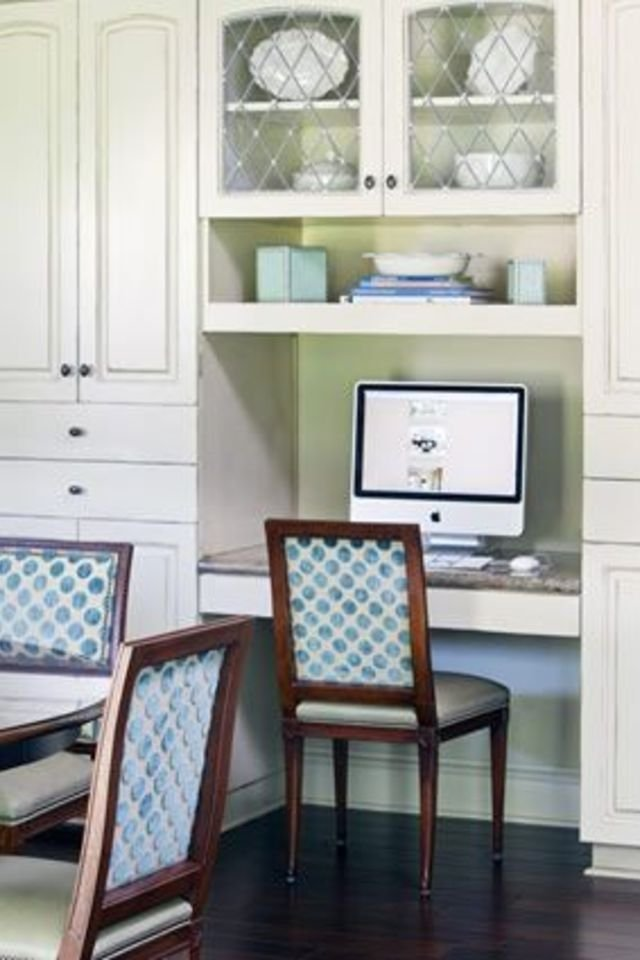 40 photos of home office nooks to greatly inspire you for Kitchen office nook