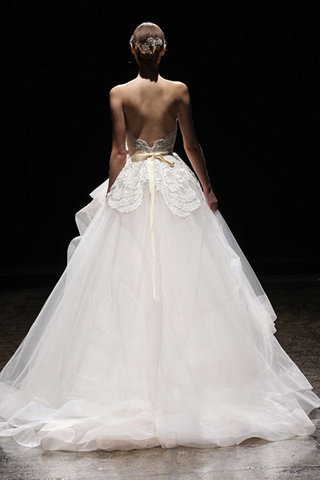 Wedding Dresses With Back Detail-Lazaro